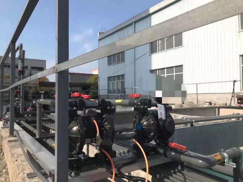 气动隔膜泵施工现场